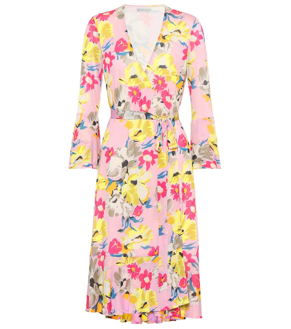 FLORAL-PRINTED WRAP DRESS