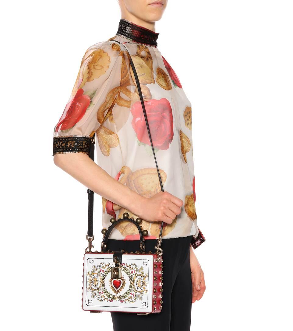amp; Gabbana bandolera amp; da Carta Dolce cuero Box de Gioco Dolce wZxqEBP5x