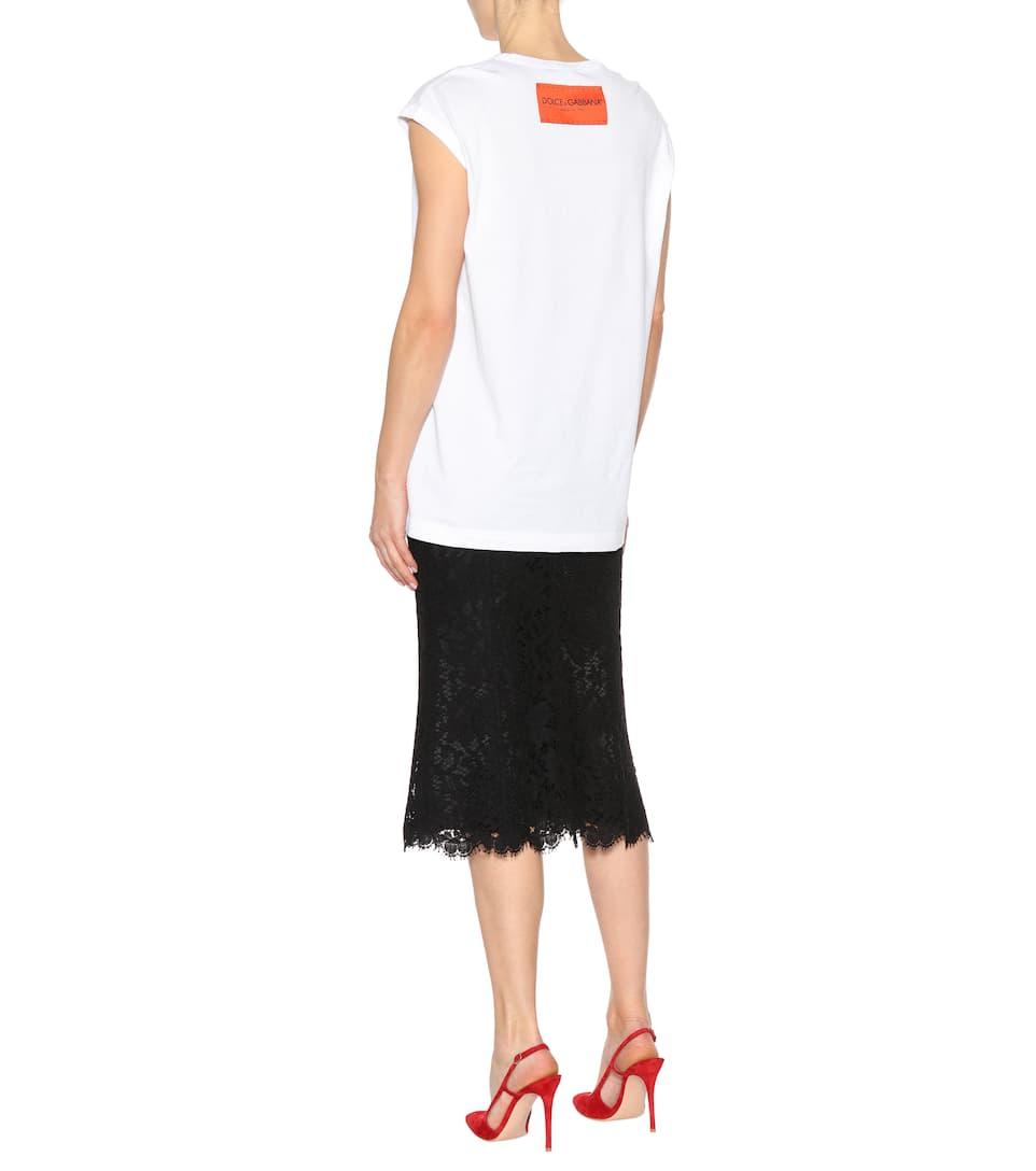 Kaufen Günstig Online Online-Shop Zum Verkauf Dolce & Gabbana Bedrucktes T-Shirt aus Baumwolle RV5fS