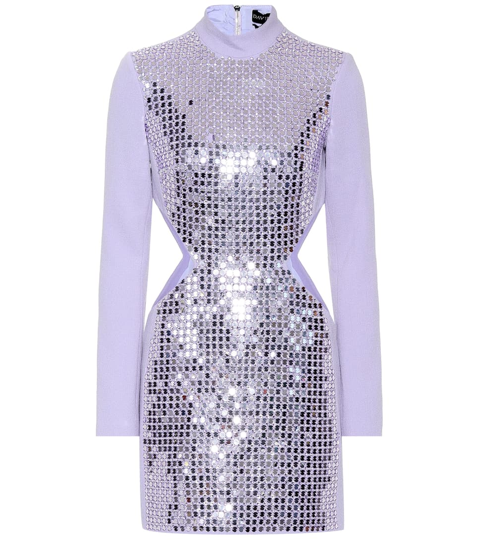 David Koma - Embellished crêpe minidress