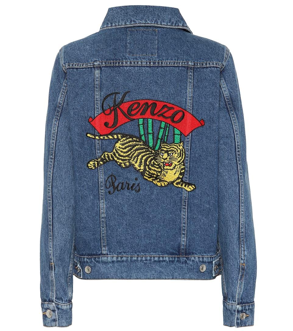 33b81068 Embroidered Denim Jacket | Kenzo - mytheresa.com