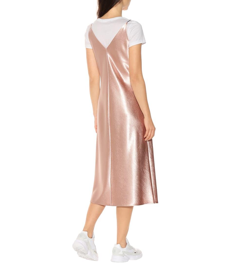 Metallic Satin Dress Vince Mytheresa