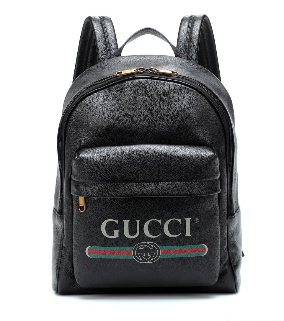 197ae6c58 Printed Leather Backpack | Gucci - mytheresa.com