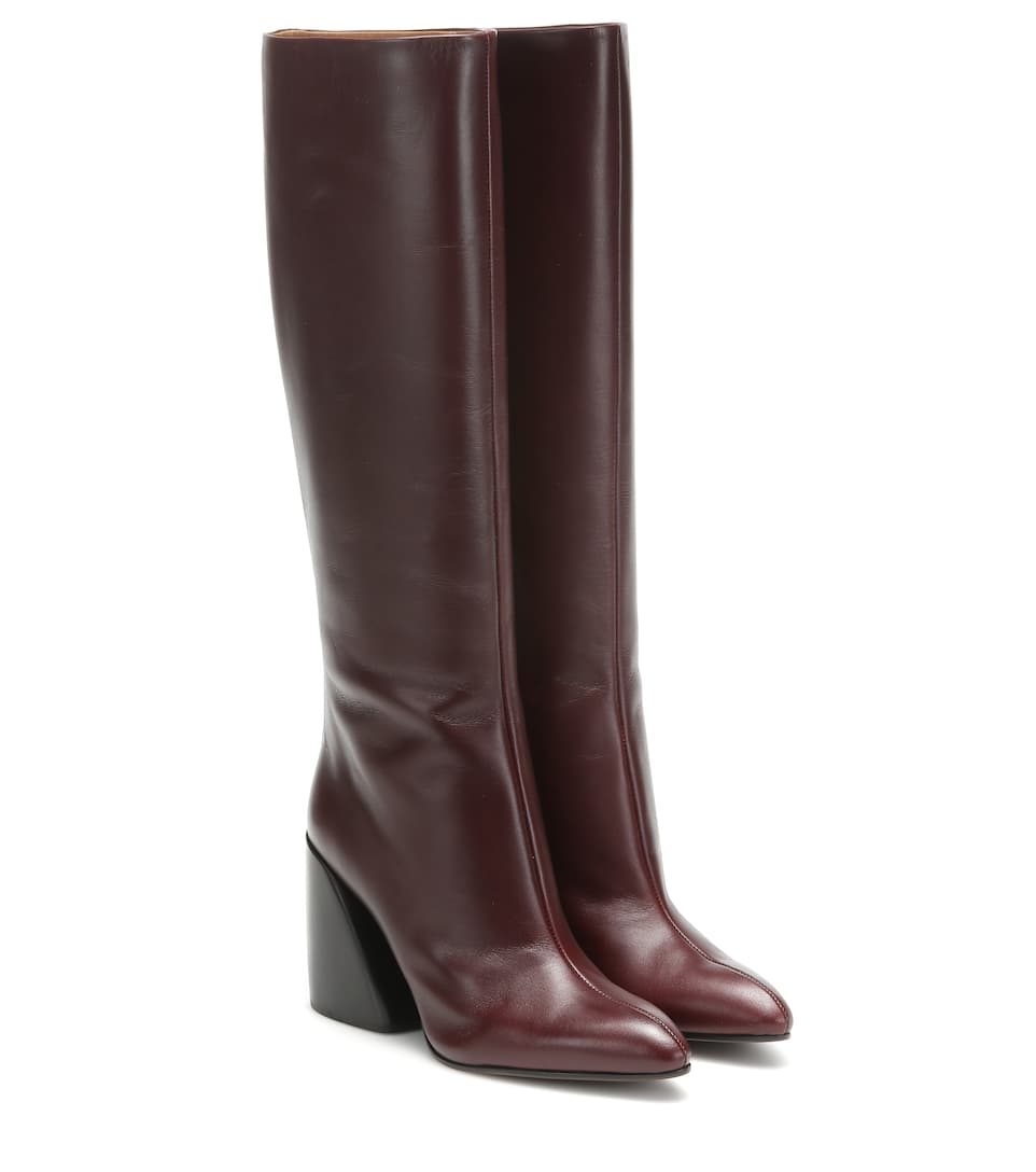 Wave Leather Boots | Chloé - Mytheresa