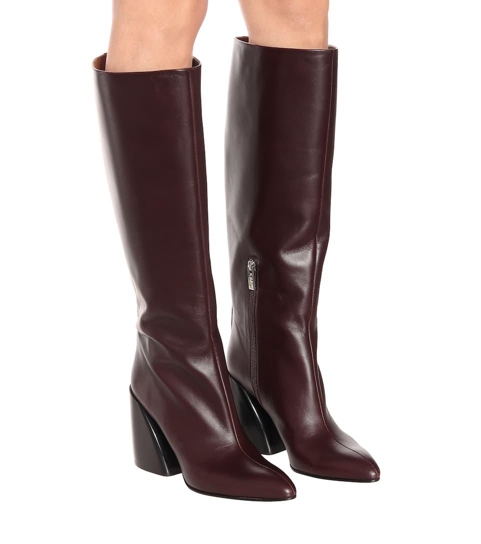 Wave Leather Boots - Chloé | Mytheresa