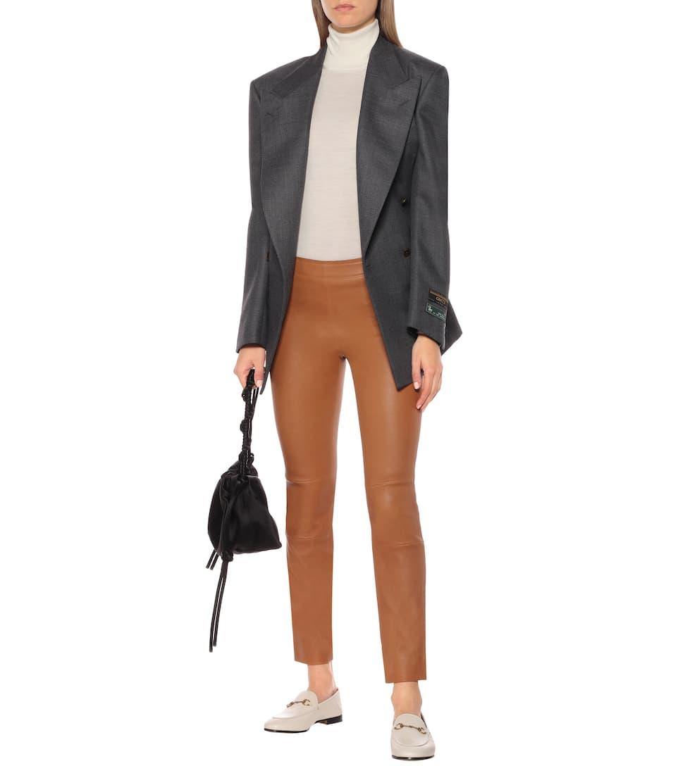 Maria Rosa High-Rise Leather Pants | Stouls - Mytheresa