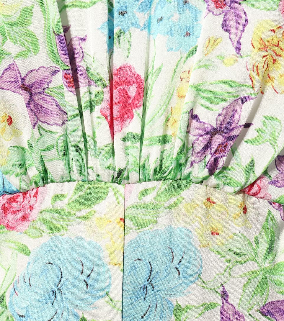 Les Rêveries - Floral silk jumpsuit