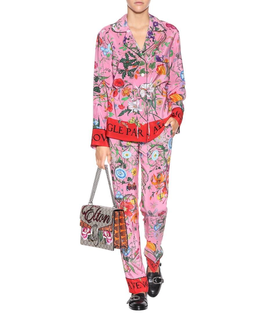 Gucci Bluse aus Seide Sonnenschein Großhandel Qualität Kosten Günstig Online Low-Cost Online Freies Verschiffen Besuch u1NxG8