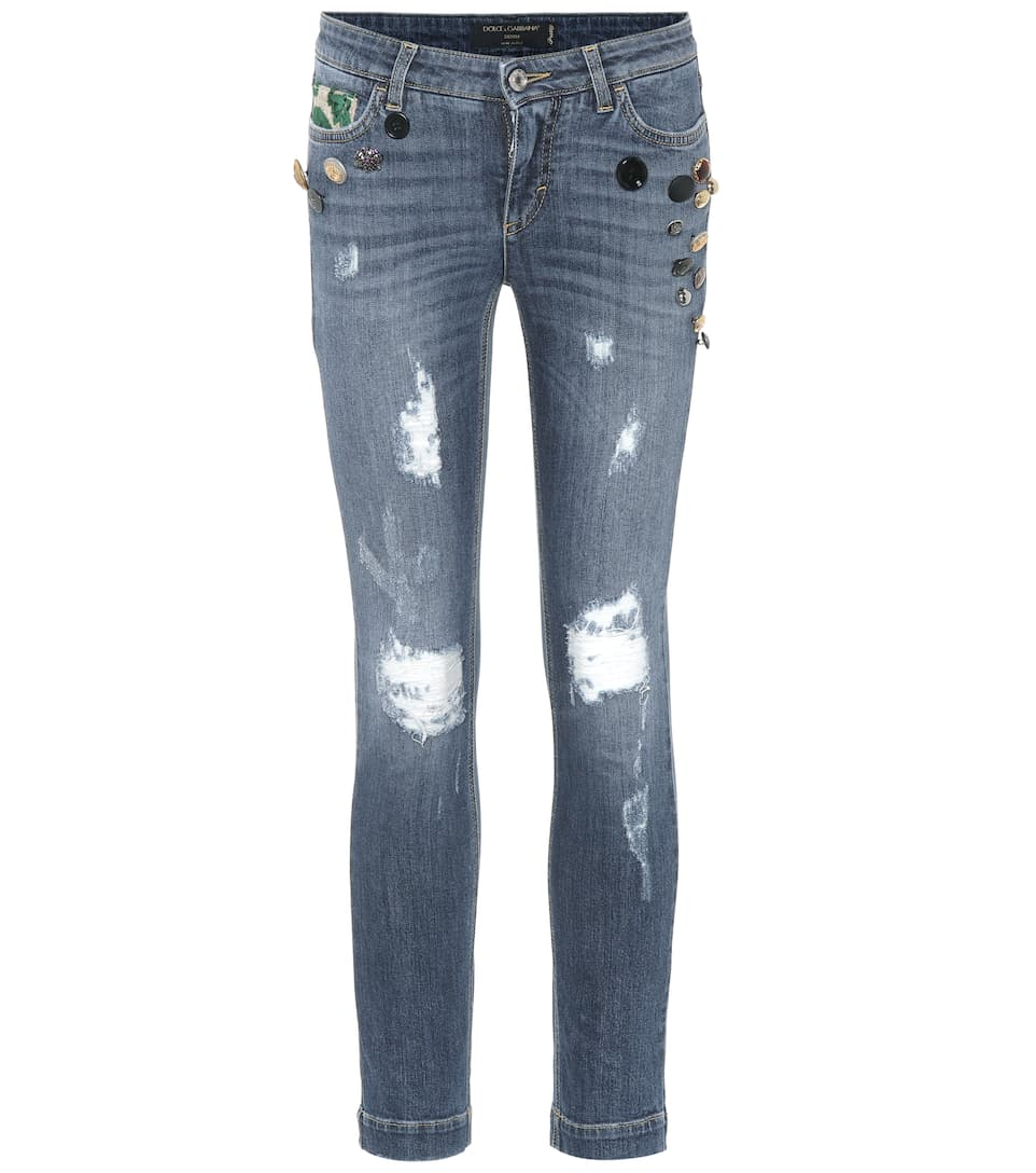 Sale Visit New Embellished distressed jeans Dolce & Gabbana Where To Buy Cheap Sale Sast Clearance 2018 New ZhwtJaNZ