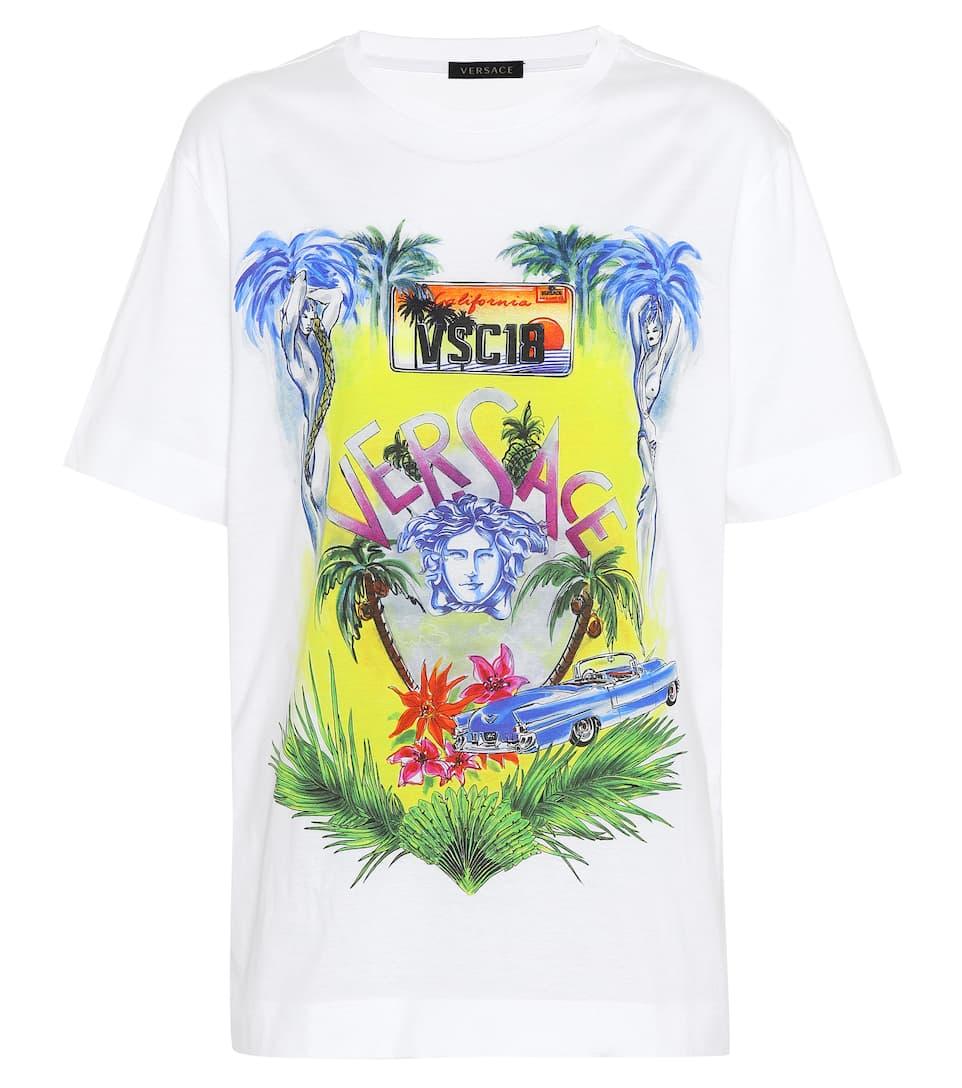 Versace T-Shirt aus Baumwolle mit Print