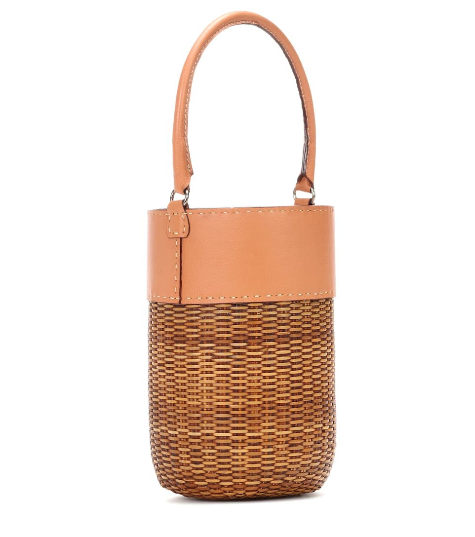 Kayu Bucket-bag With Leather Details Lucie
