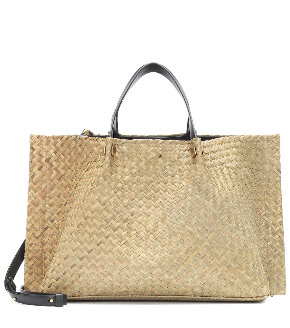 d0acadf1275 Valentino Garavani VLOGO Escape Medium straw shopper