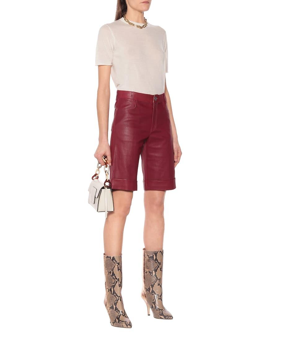 Stouls - Sophie leather bermuda shorts