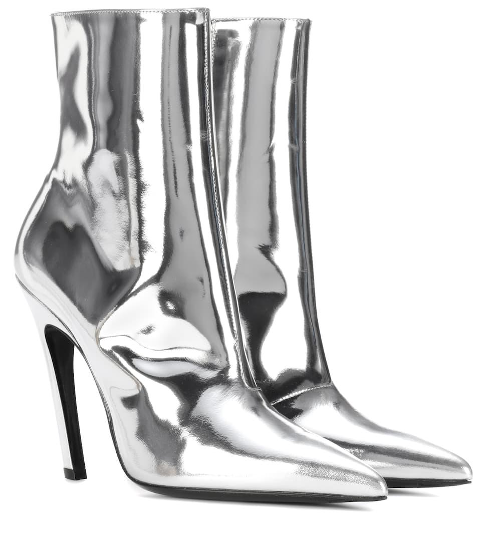 Prix Incroyable En Ligne Balenciaga Bottines en cuir métallisé Slash Heel Livraison Gratuite Combien Pas Cher En Vente Achats En Ligne Vente Amazon fWLEV