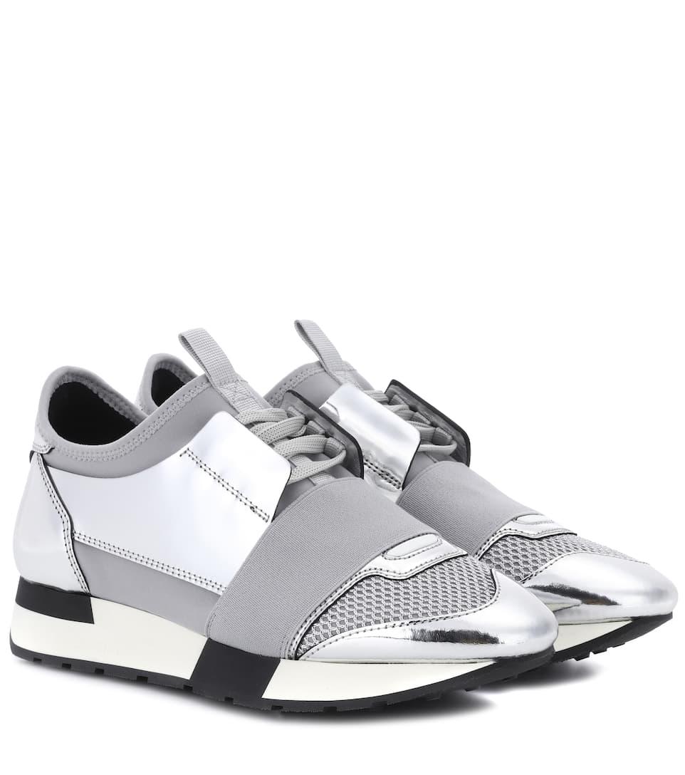 Neue Stile Verkauf Online Balenciaga Sneakers Race Runner mit Lederbesatz Freies Verschiffen Große Überraschung MmnR3