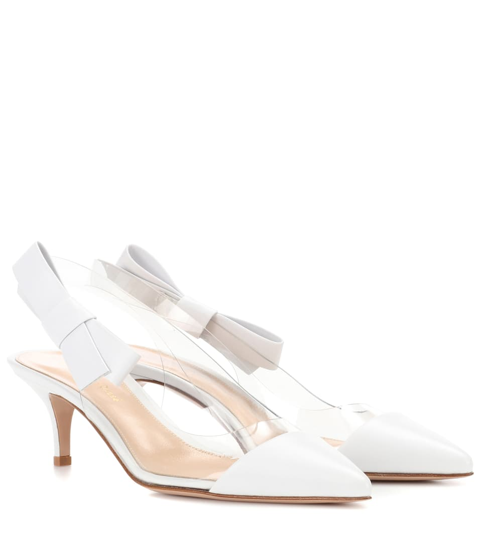 Mia Leather And Plastic Pumps by Gianvito Rossi