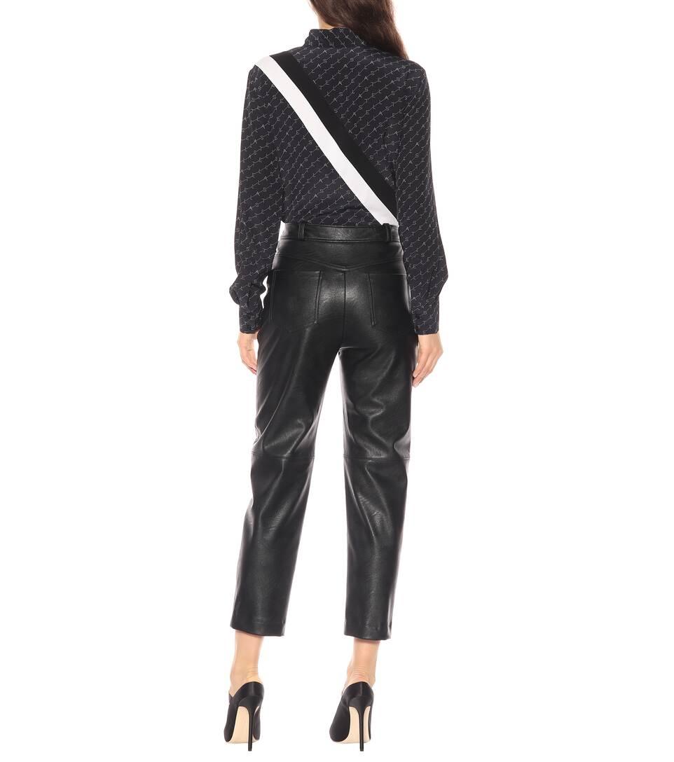 Taille Cuir Stella À Synthétique Raccourci Mccartney Pantalon Haute En 29HIWDEY
