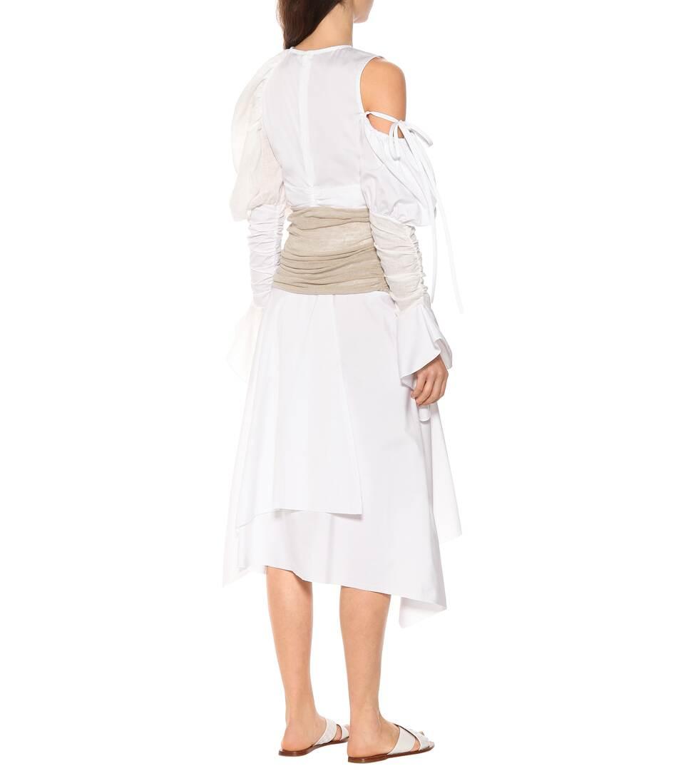 棉麻混纺中长半身裙展示图