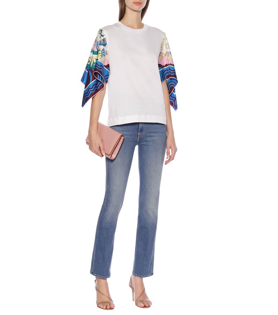 Emilio Pucci - Silk-trimmed cotton shirt