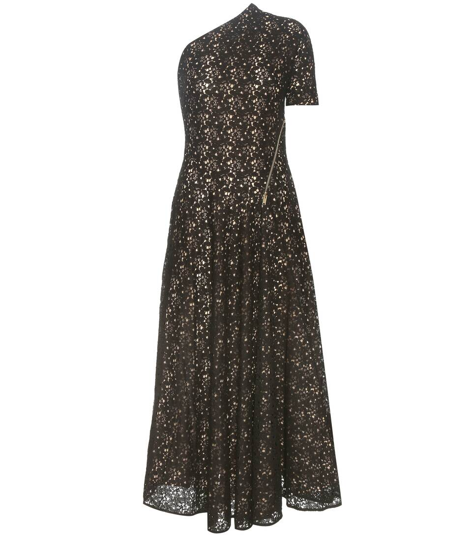 Stella McCartney Asymmetrical cotton-blend lace dress