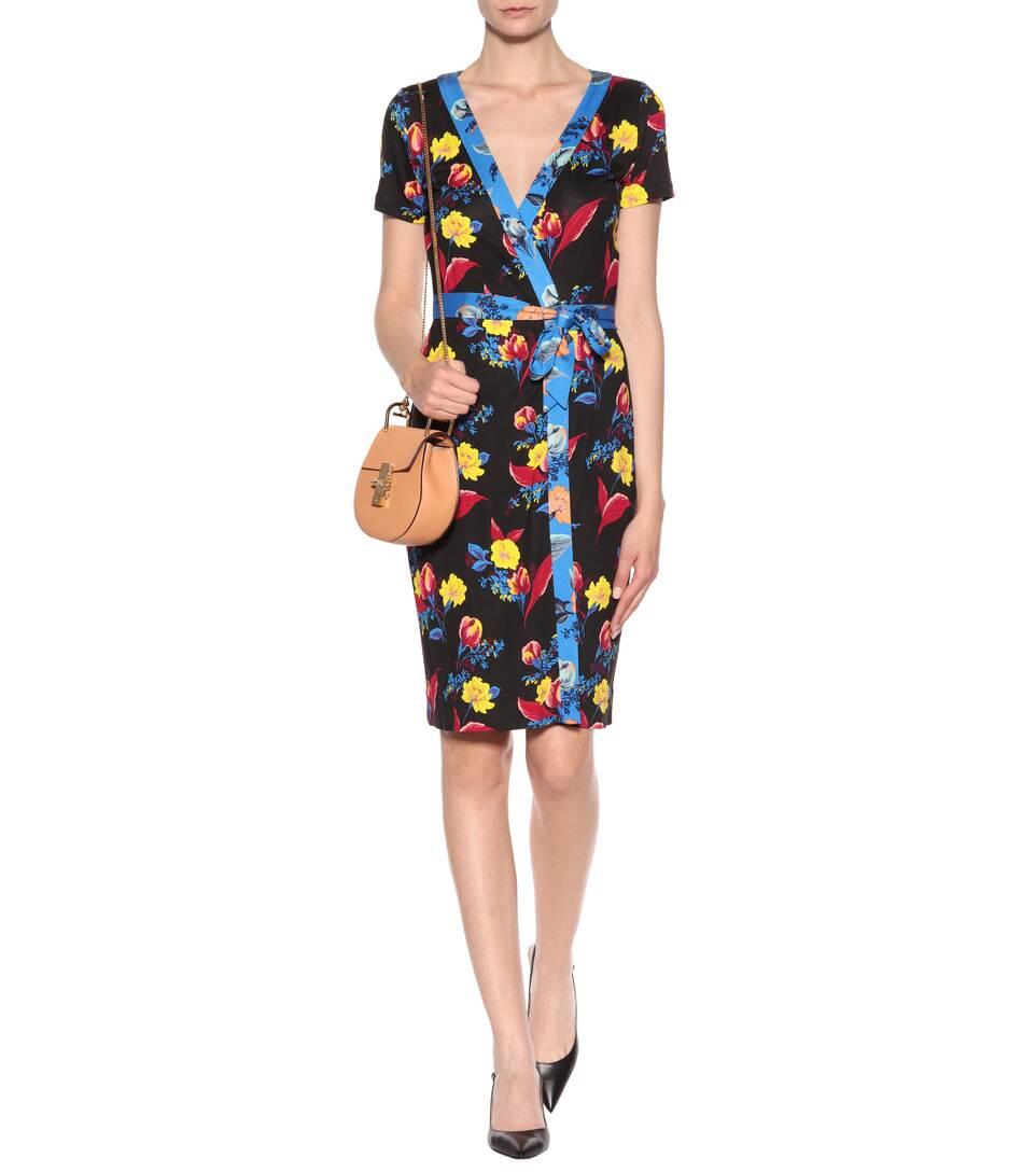716815a25439 Diane von Furstenberg - Abito a portafoglio New Julian in jersey di ...