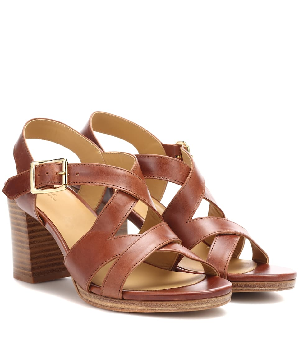 2015 new online A.P.C. Salma block-heel leather sandals clearance best place tumblr sale online p5e7rVqlQ3