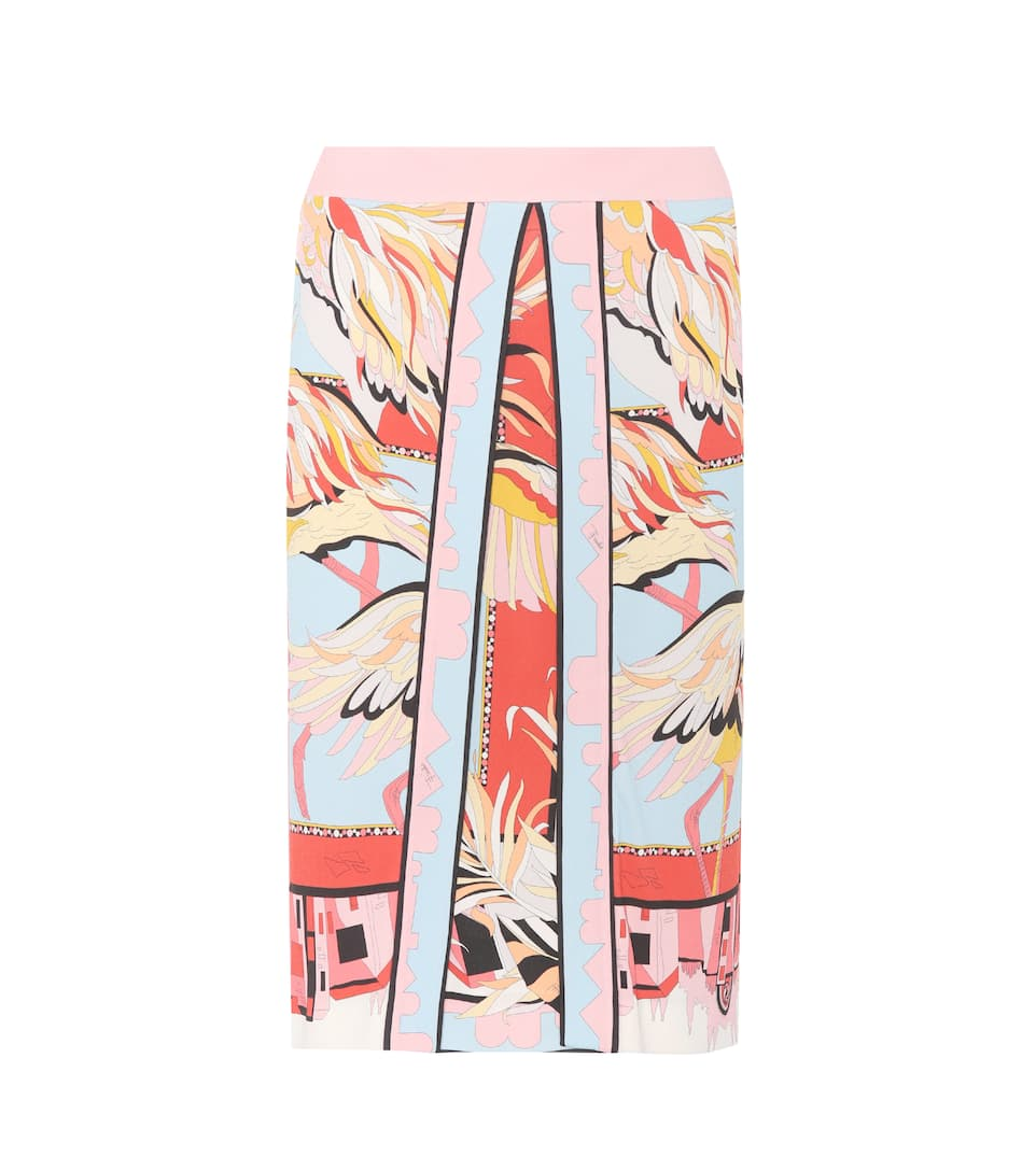 Emilio Pucci Printed Skirt With Satin Share