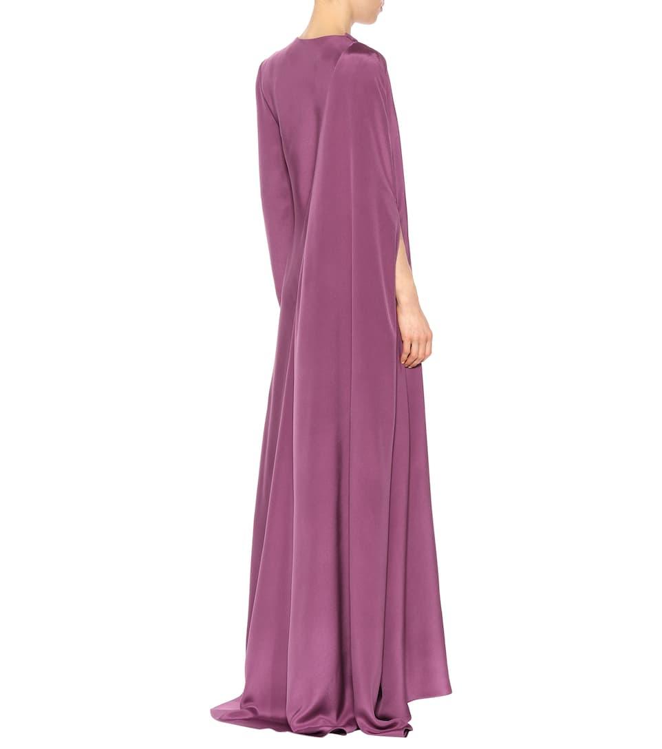 Valentino Langärmlige Robe aus Seide