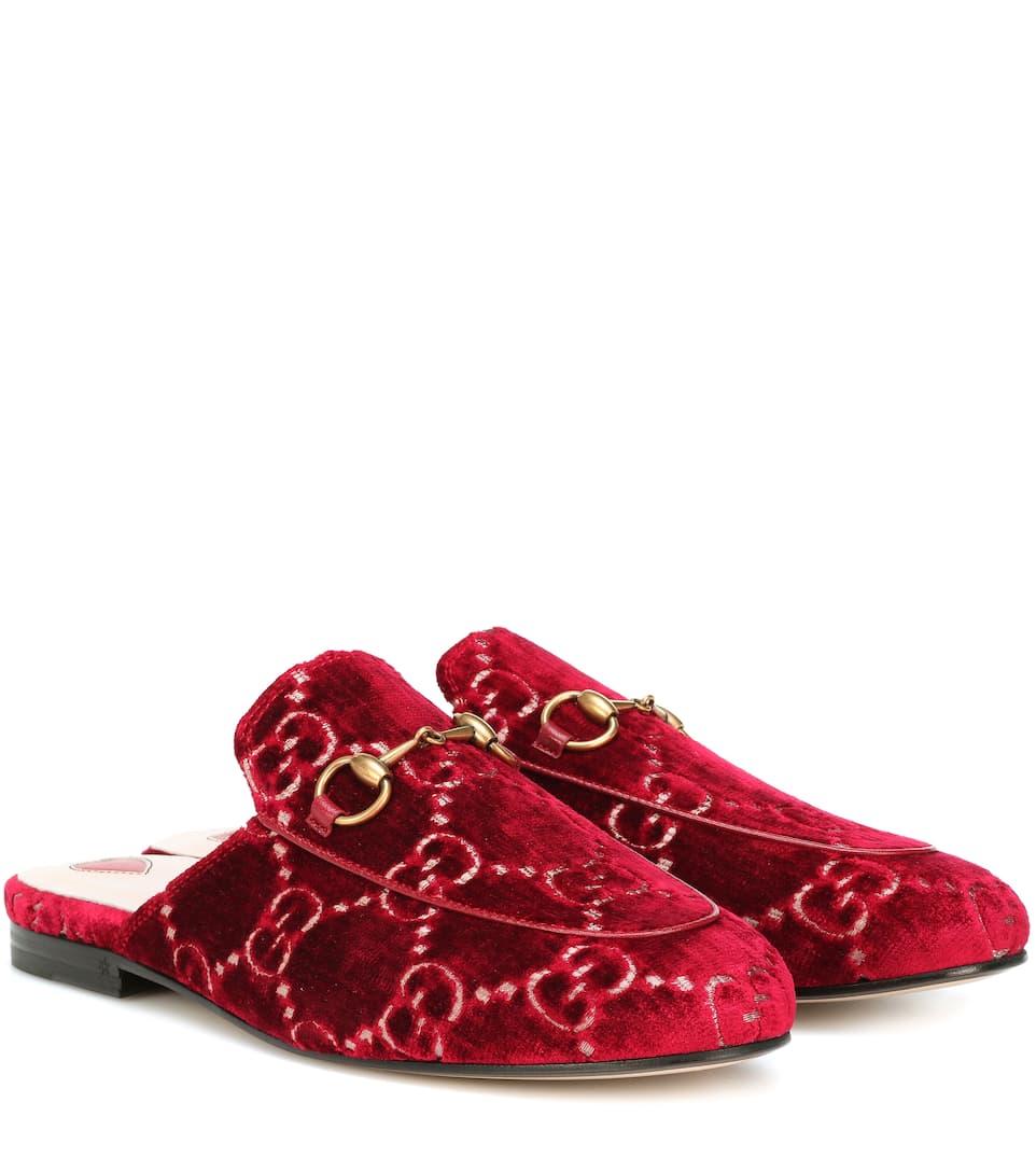 ac2fe0cfe Princetown Gg Velvet Slippers - Gucci   mytheresa.com