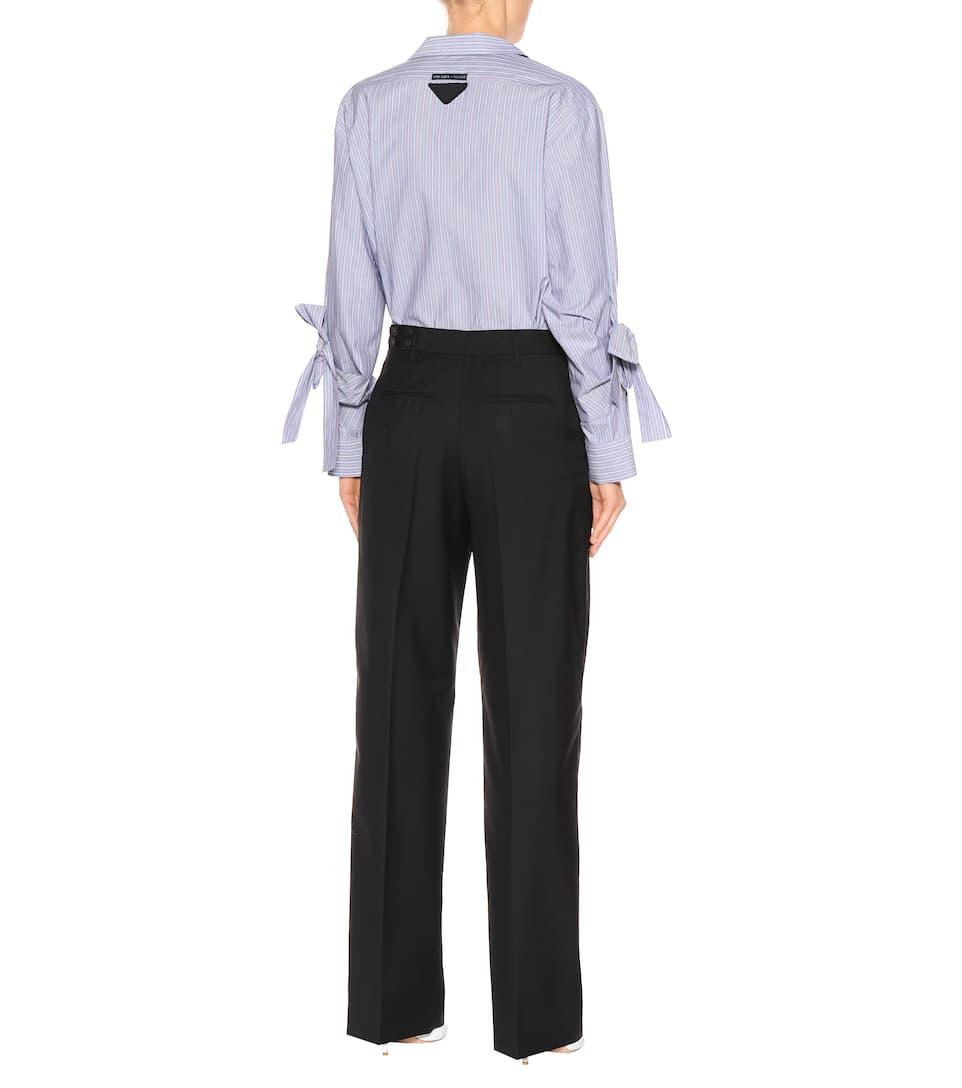 Prada Nero de y lana Mohair pantalones wgSPq