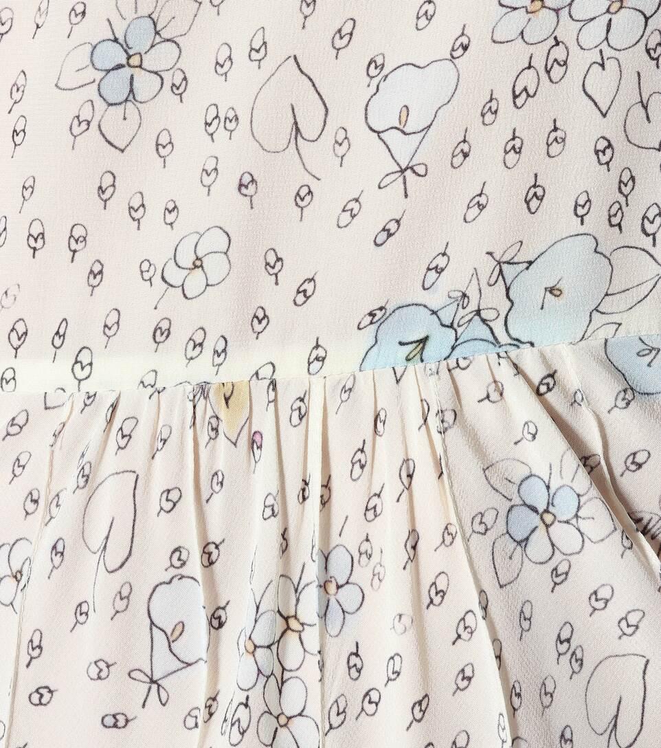 Miu Miu - Robe en soie imprimée Vente Pas Cher Livraison Gratuite La Qualité De Sortie De La Livraison Gratuite Prix pas Cher De Qualité aDjs2m