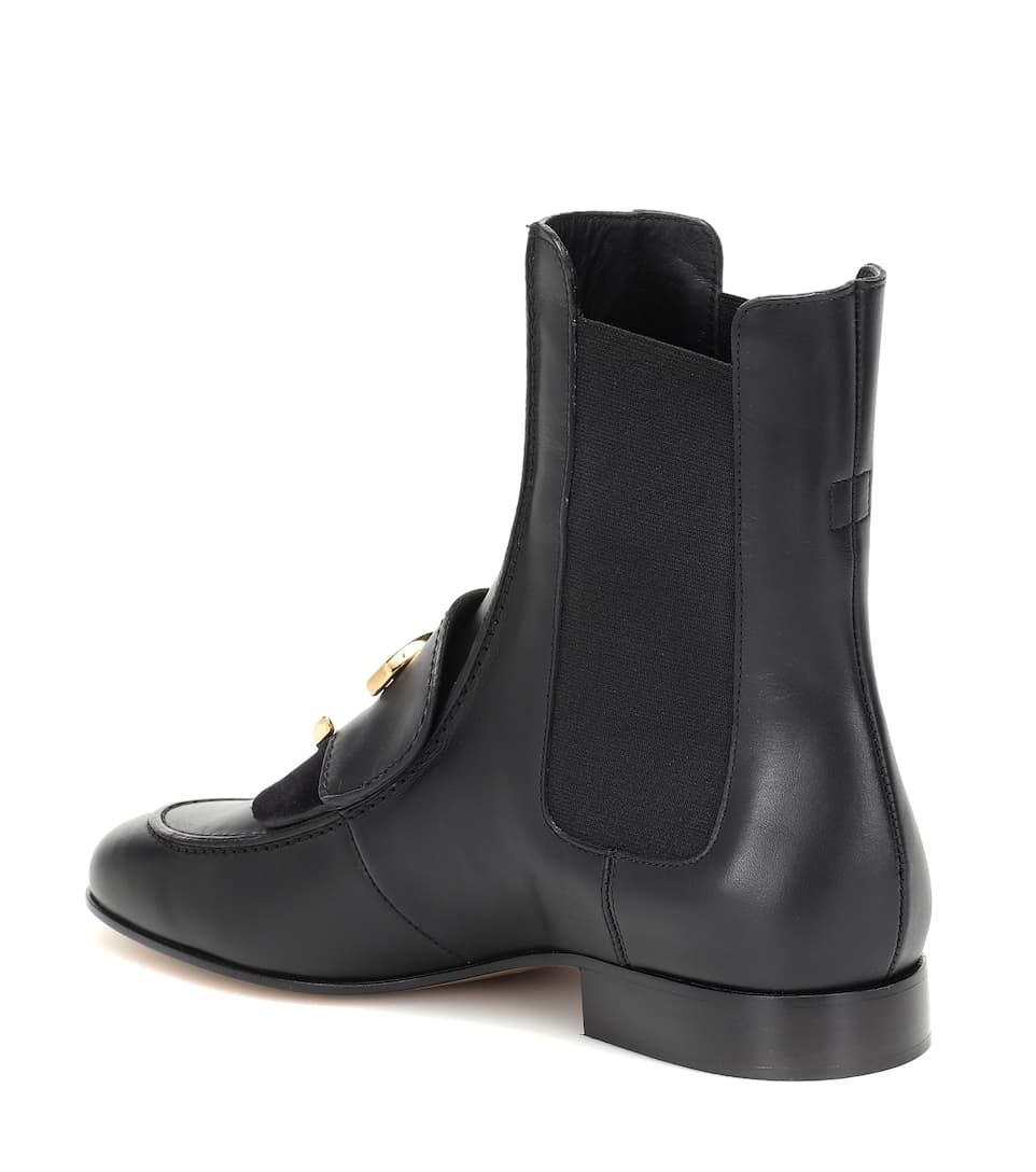 caf851c57f Chloé C leather ankle boots