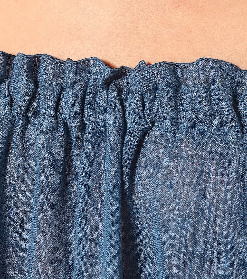 Linen-Blend Maxi Dress - Lisa Marie Fernandez