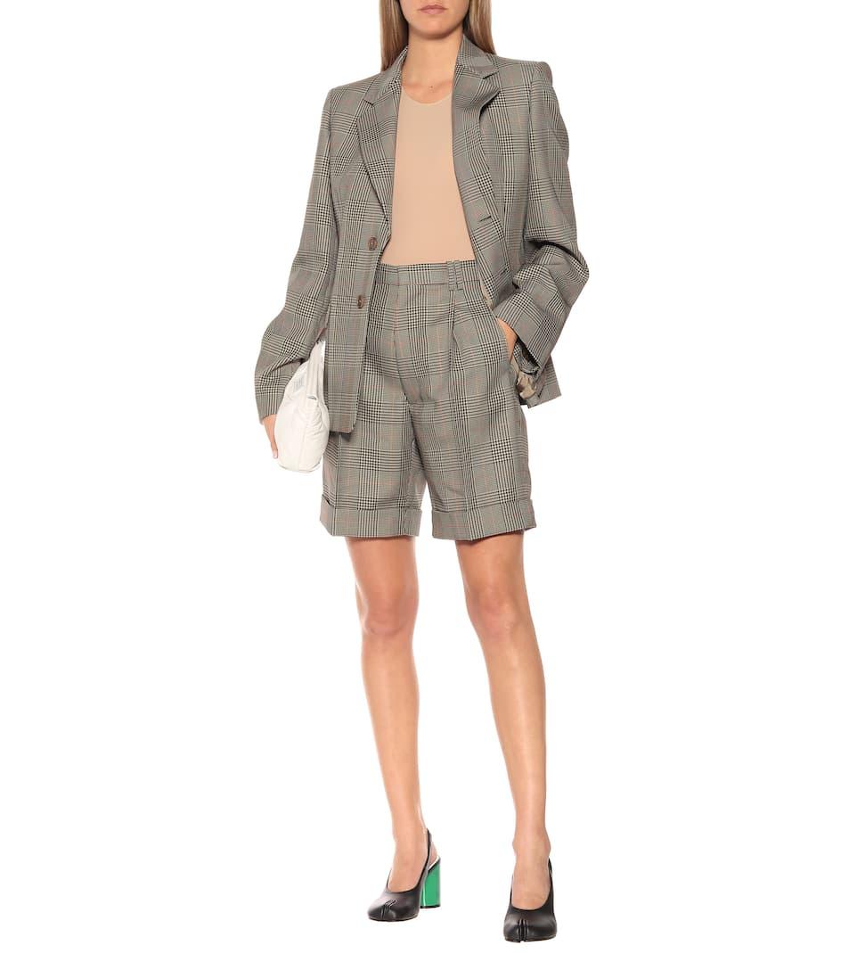 Maison Margiela - Checked mid-rise shorts