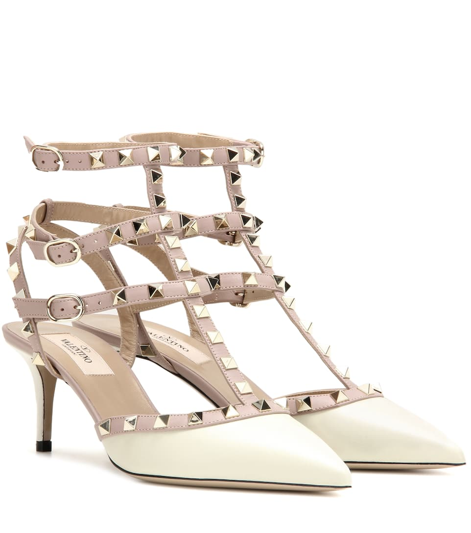 new products for discount meet Valentino Garavani Rockstud leather pumps