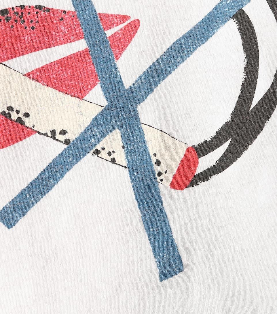 Saint T Laurent Bedrucktes shirt Aus Baumwolle aq8gPaw