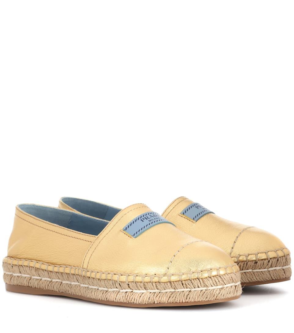 Sandales Espadrilles En Cuir