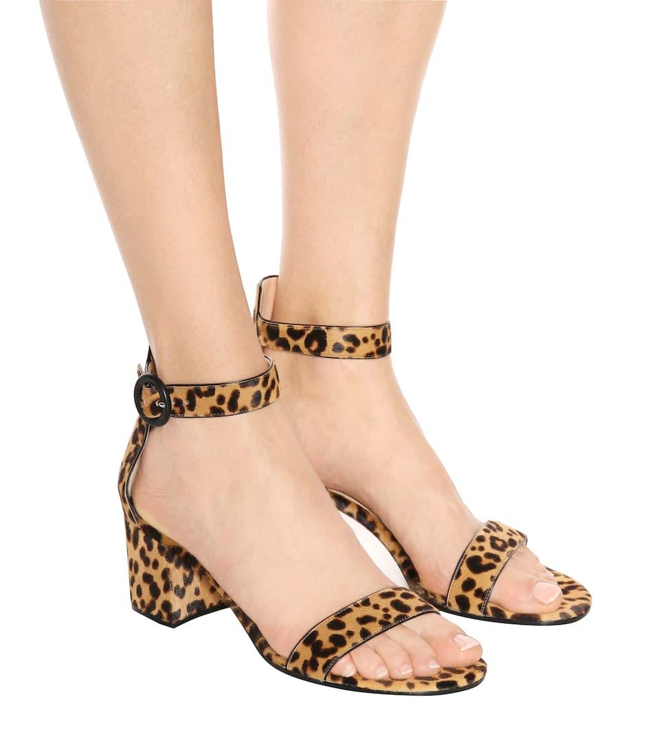 Gianvito Rossi Versilia 60 leopard-printed sandals m7k9CQi