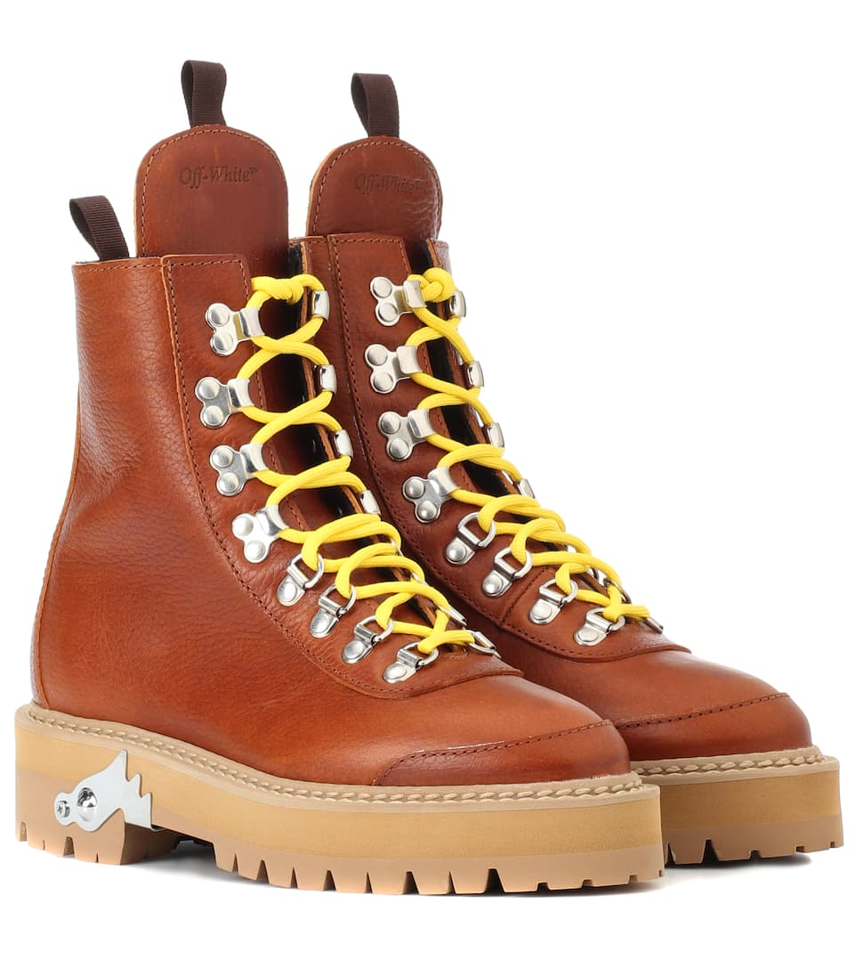 841bf10f5c2 Off-White - Leather hiking boots