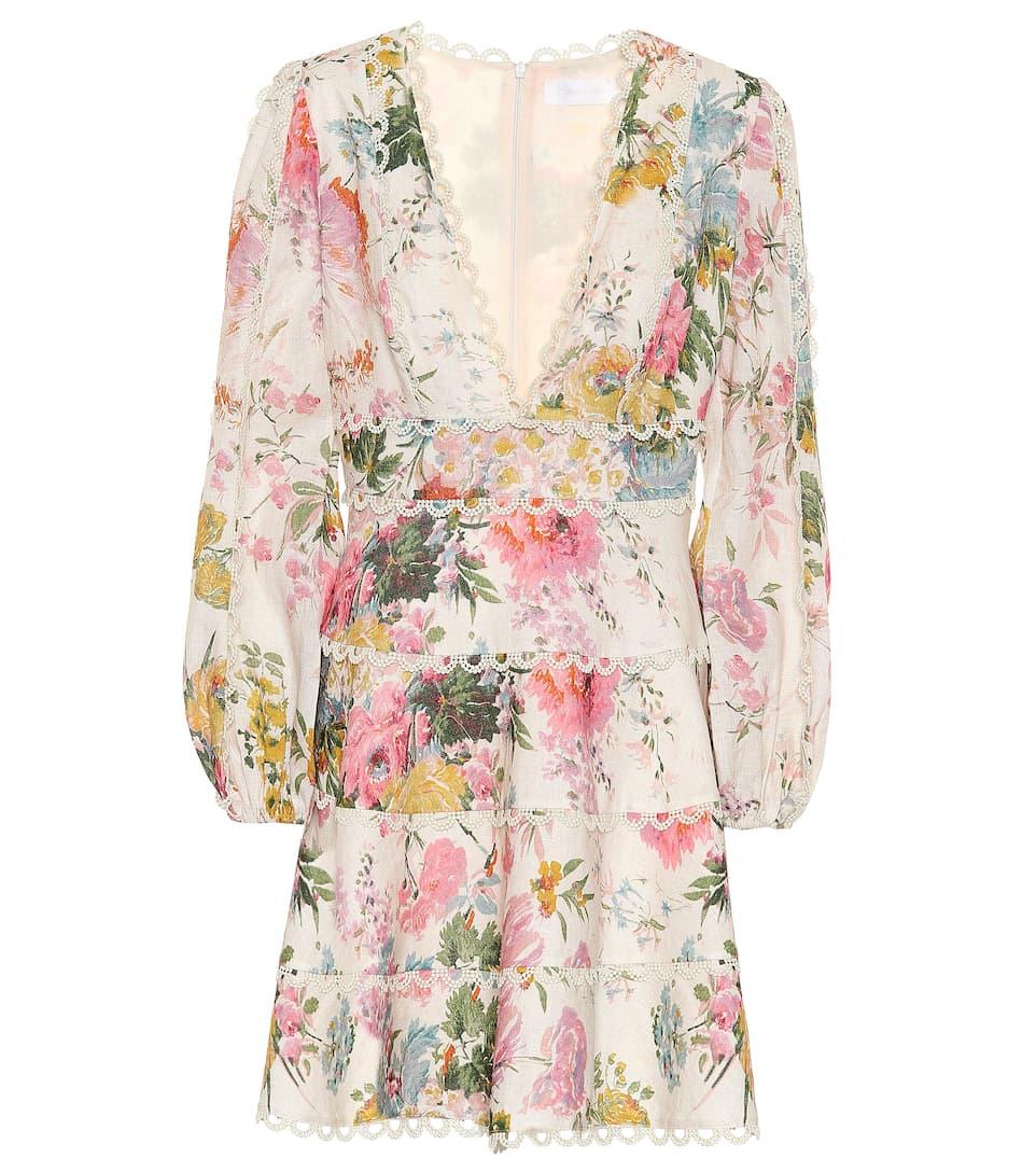 Dress Heathers Zimmermann Heathers Linen Floral Floral Linen n6qgXwT