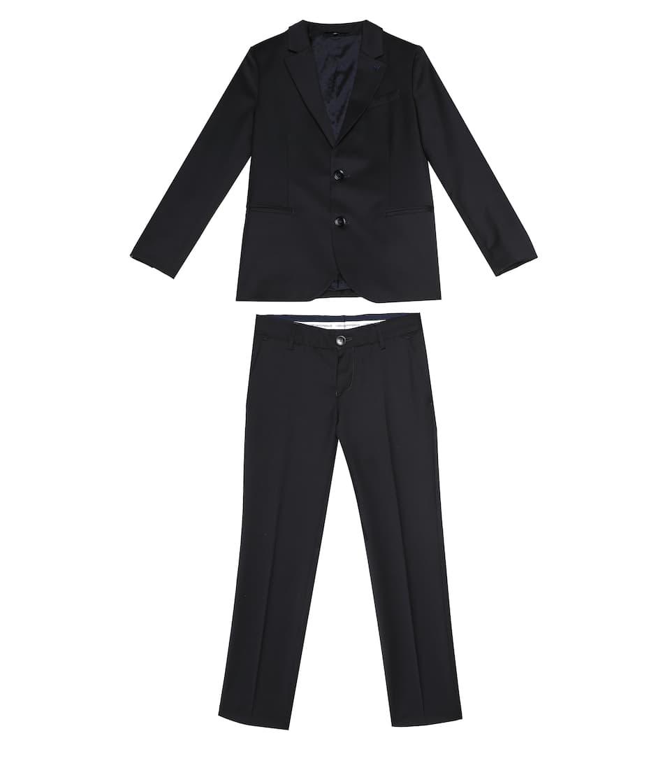 buy popular c8ced 25c25 Costume Blazer Et Pantalon En Laine | Emporio Armani Kids ...