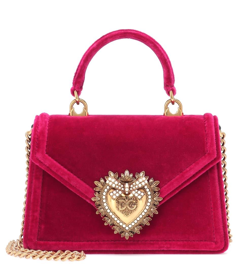 b2e7f24e60b Devotion Small Velvet Shoulder Bag - Dolce & Gabbana | Mytheresa