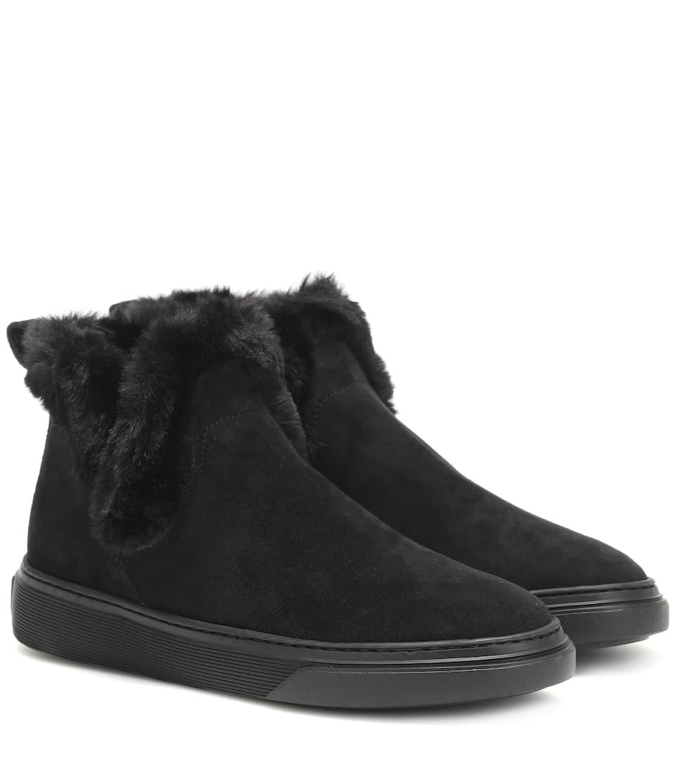 5098eba8dcd Wintery Feeling Suede Ankle Boots | Hogan - Mytheresa
