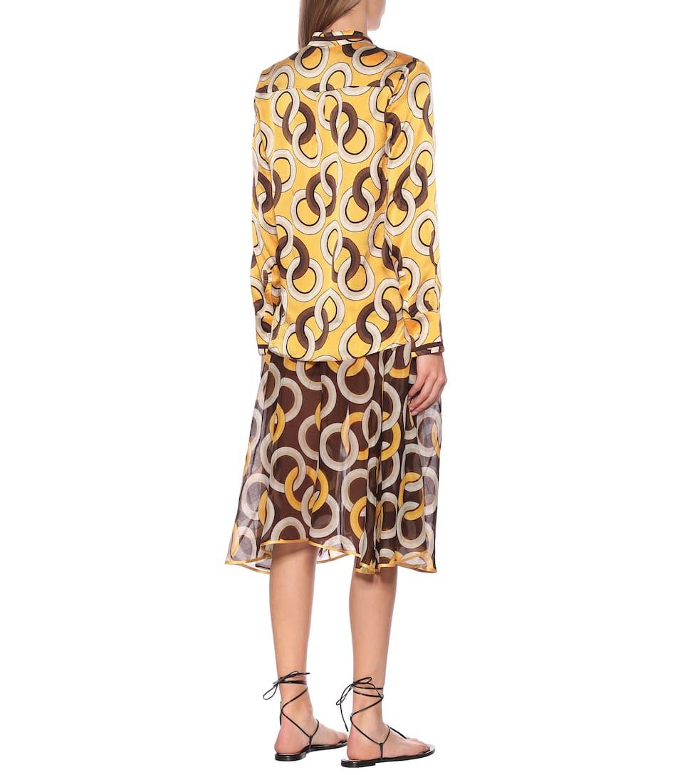 F.R.S For Restless Sleepers - Eurito printed silk pajama top