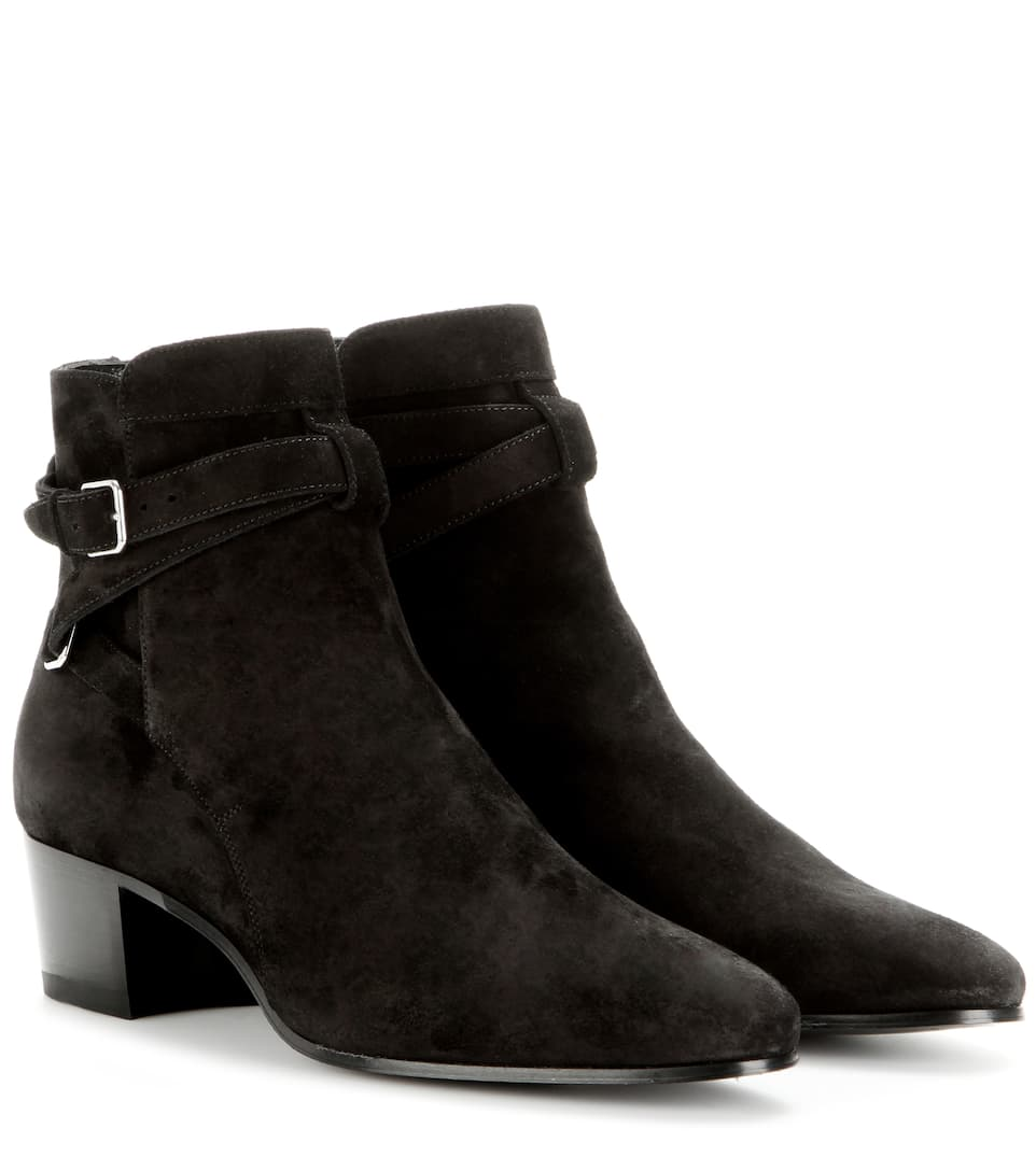 Saint Laurent Blake 40 Jodhpur leather ankle boots