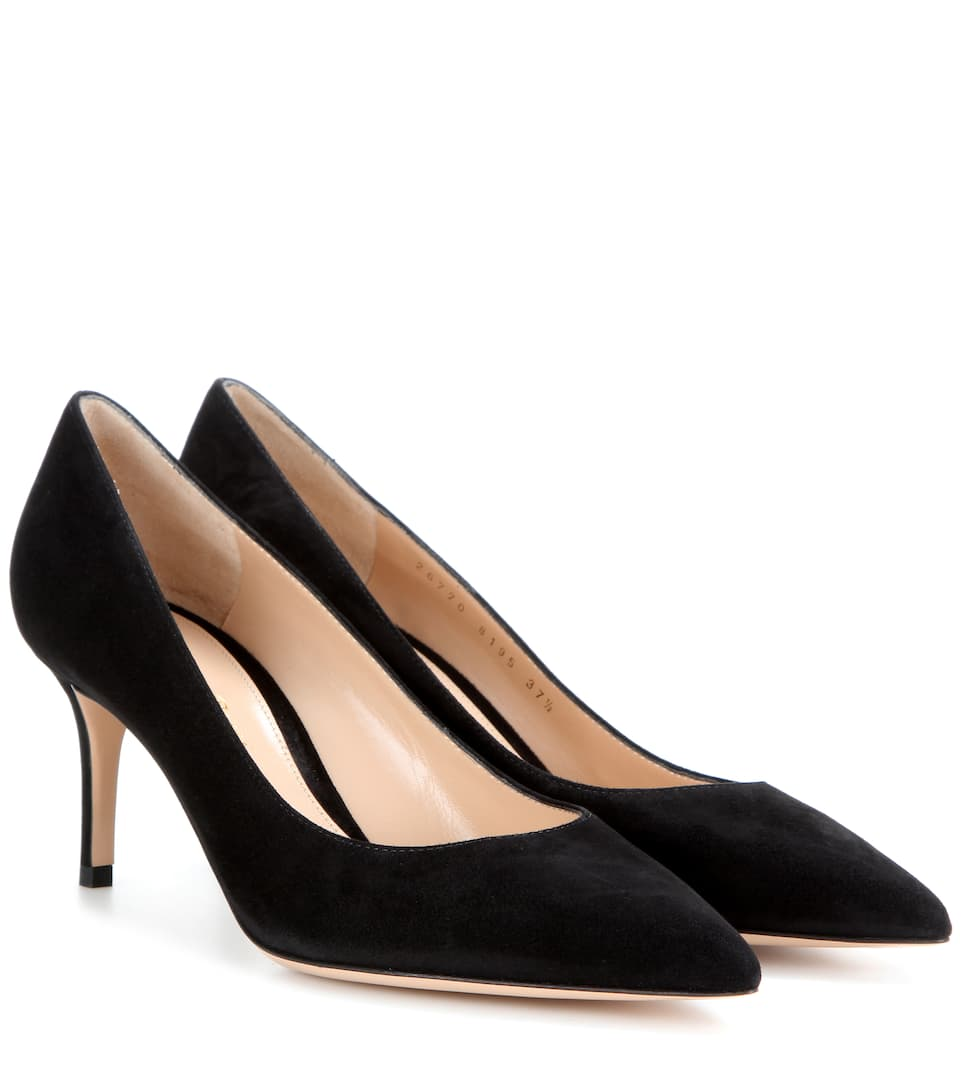 Gianvito Rossi Gianvito 70 suede pumps Black Outlet In UK Sale Pictures LgB2IpCn