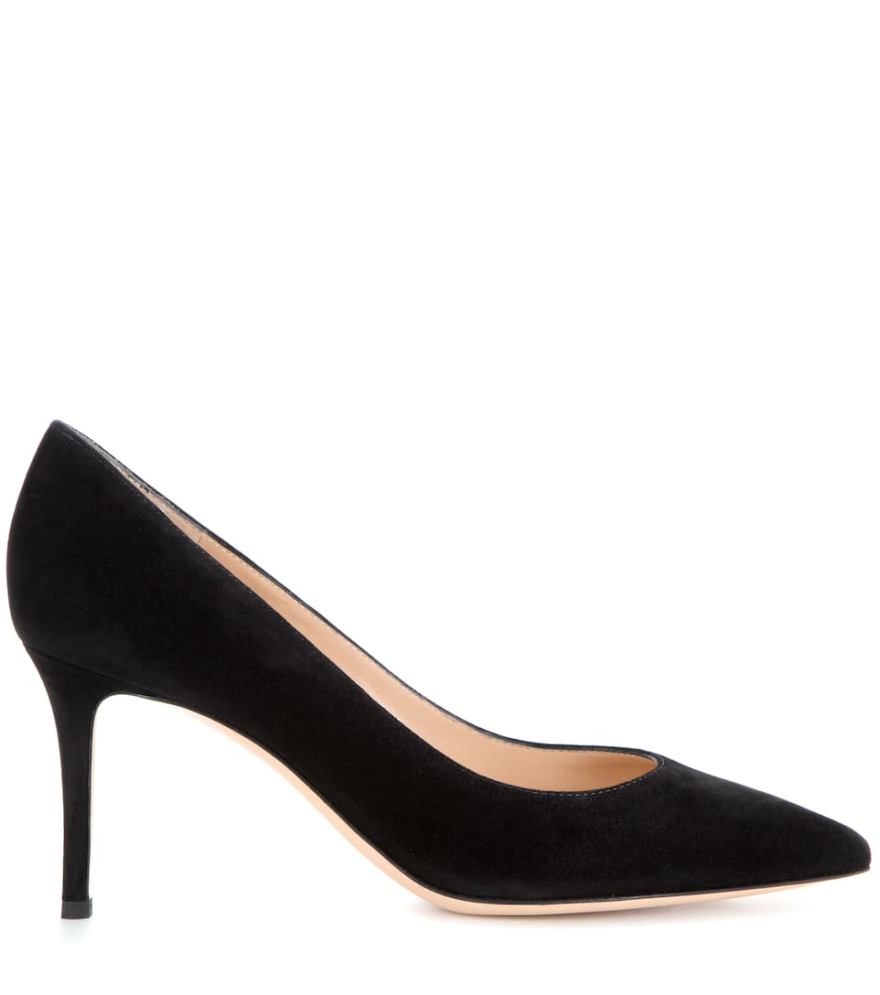 Gianvito Rossi Pumps Gianvito 70 aus Veloursleder