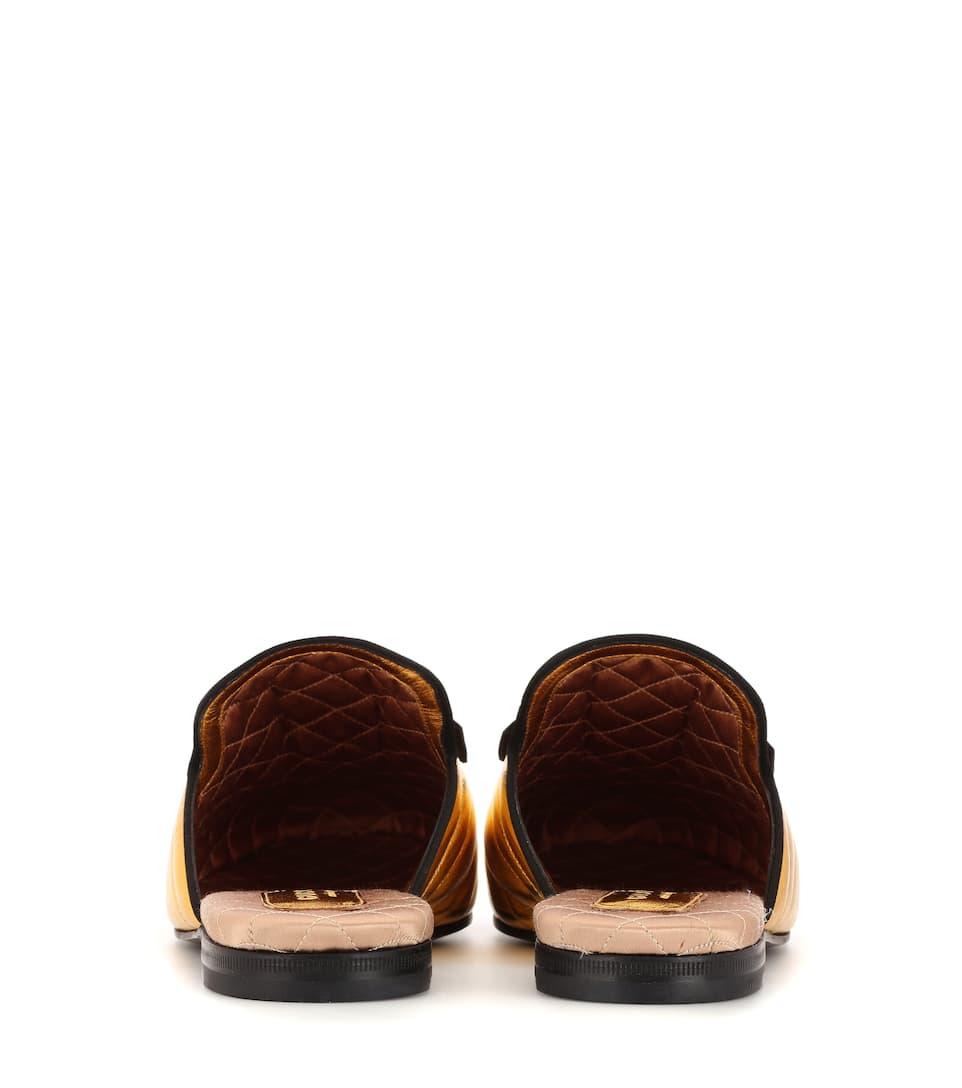 Gucci Slippers Princetown aus Matelassé-Satin Günstig Kaufen Modisch Billig Verkauf Kosten 2018 Online Rabatt Footlocker Finish ePYgA