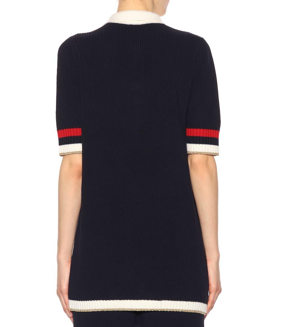 Gucci Verzierter Pullover aus Baumwolle Outlet Kollektionen Verkauf Für Billig wALknk3q