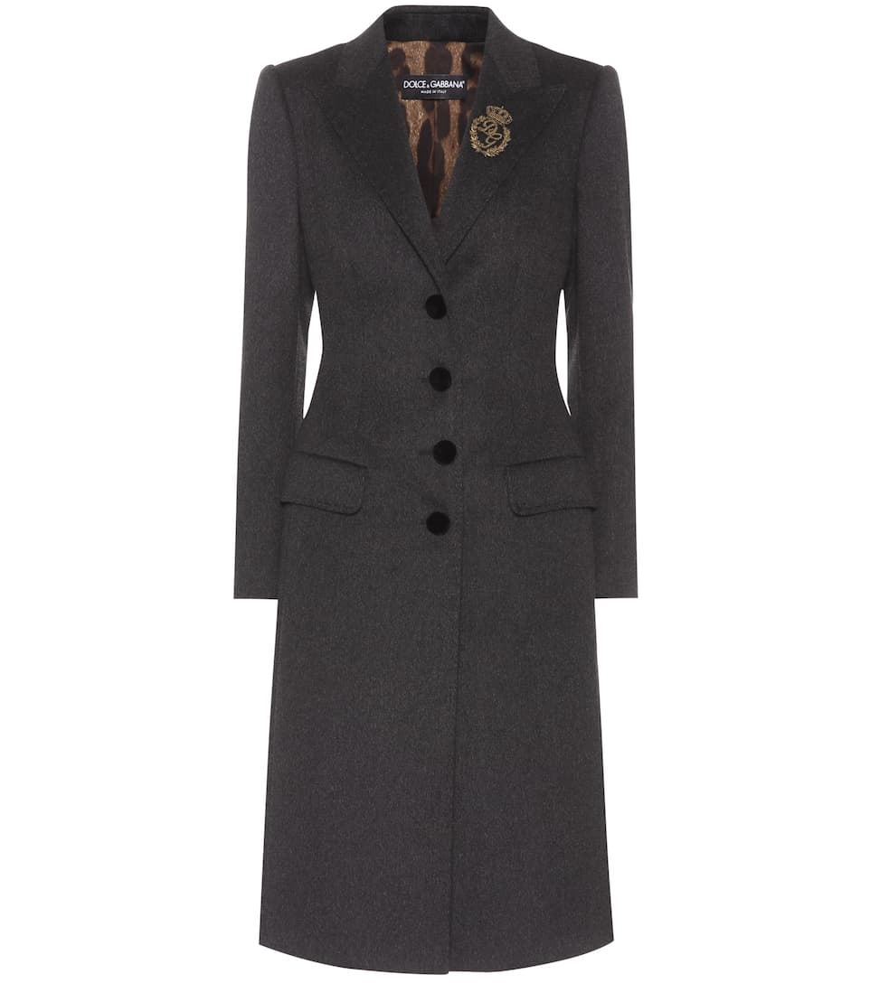Wool And Cashmere Coat, Grey